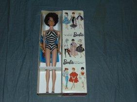 Vintage Barbie Brunette Bubblecut In Original Box