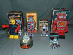 Lot Of Assorted Space Toys & Robots