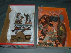 Assorted Soldier & Figure Lot Including Elastolin