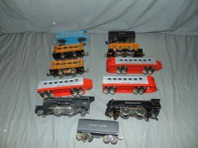Lionel Pre-war Lot Of Steam Engines & Pass Cars
