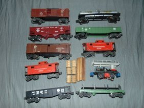 Lionel Postwar, Freight Cars And Motorized Unit