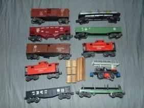 Lionel Postwar, Freight Cars And Motorized Unit