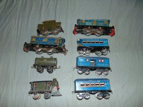 Mixed Train Lot, American Flyer, Marklin, Etc