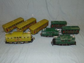 3 Pre-war Lionel Electric Locos & Pass Cars