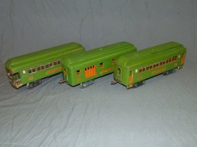 Lionel Pre-war Lot Of 3 Standard Gauge Pass Cars