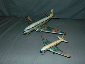 (2) Yonezawa Tin Litho Friction Comet Jetliners