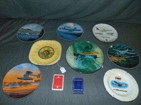 Collectible Aircraft Aviation Related Plates