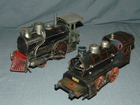 Two Early European Train Engines