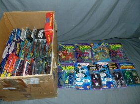 (50) Marvel Comics Action Figures And Toys