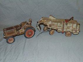 2 Cast Iron Arcade Mccormick Deering Farm Toys