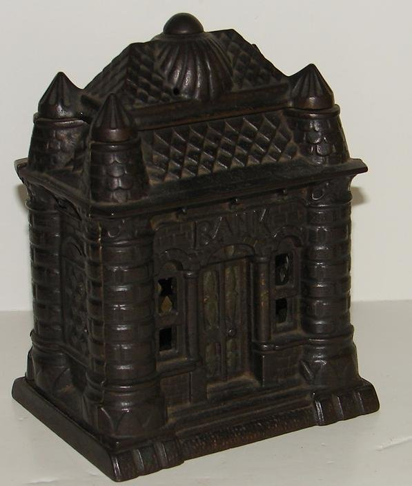 """3008: CAST IRON STILL BANK """"FOUR TOWERS"""""""