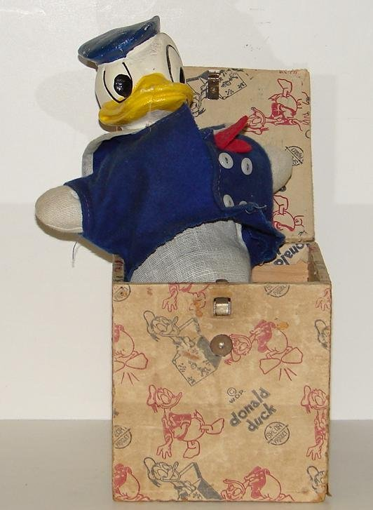 """4013: """"DONALD DUCK"""" JACK-IN-THE-BOX"""