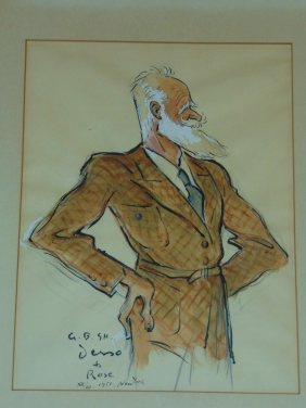 Aloysius Derso Watercolor. G.b. Shaw.