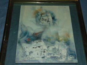 Luis Toledo (20th Century) Watercolor.
