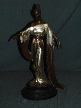 """Erte """"negligee"""" Limited Ed Bronze Sculpture"""