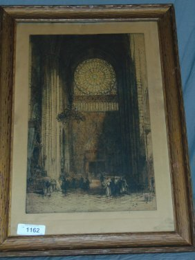 Jacobi Re-proof Notre Dame Engraving Hedley Fitton