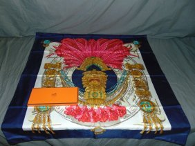 Hermes Silk Scarf. Includes Hermes Box.