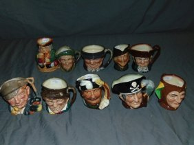 Royal Doulton Toby Mugs. Small. Lot Of 10