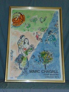 Marc Chagall 1974 Four Seasons Lithograph