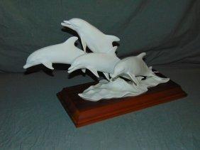Kaiser Porcelain Leaping Dolphin Group.