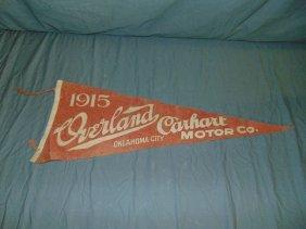 "Scarce Overland Carhart Racing Pennant 28-1/2"""