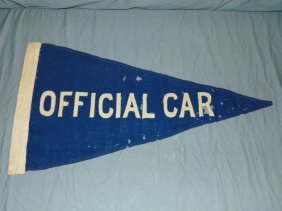 Indianapolis 500 Official Car Pennant, Attributed