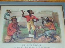 Currier  Ives Black Americana Lithograph
