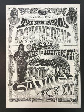 1967 Rick Griffin Head Shop Poster Jook Savage