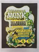 1968 Thelonius Monk Carousel  Concert Poster