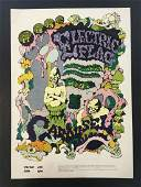 1968 Electric Flag Carousel  Concert Poster