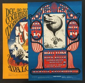 (2) 1966 Family Dog Concert Posters