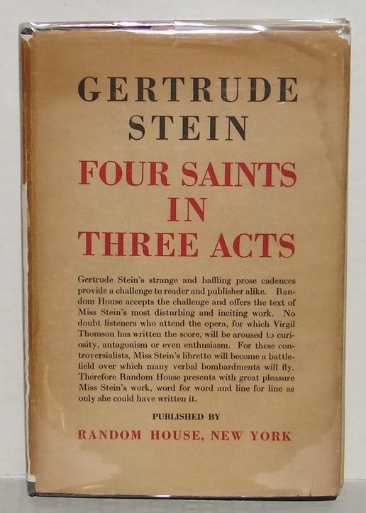 19: GERTRUDE STEIN. FOUR SAINTS IN THREE ACTS.