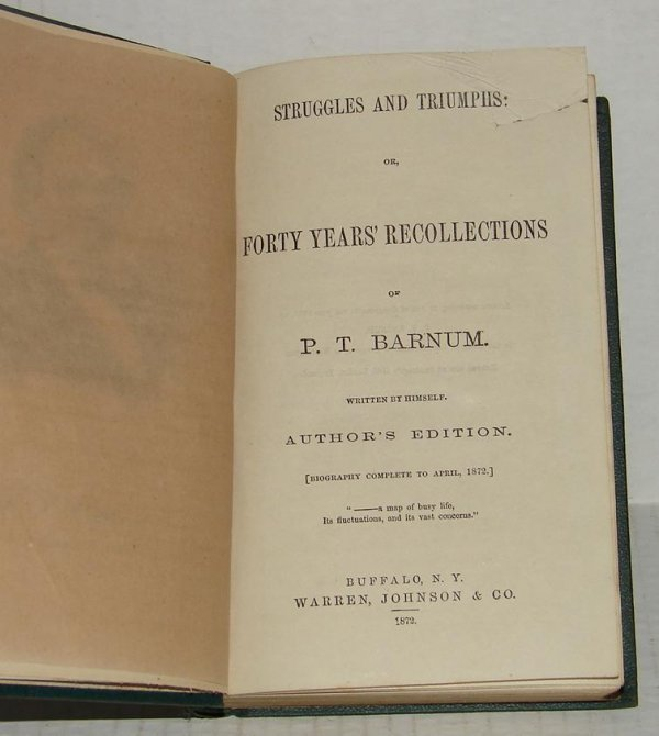 22: P.T. BARNUM. STRUGGLES AND TRIUMPH.