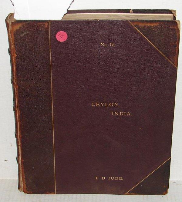 171: 19TH CENTURY PHOTO ALBUM. CEYLON AND INDIA.