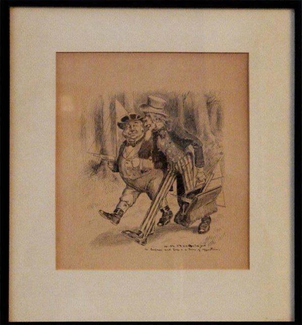 1019: PEN AND INK CHARLES RAYMOND MACAULEY