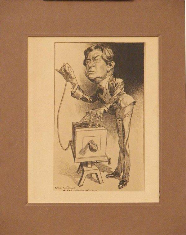 1022: PEN AND INK SIGNED CHARLES RAYMOND MACAULEY