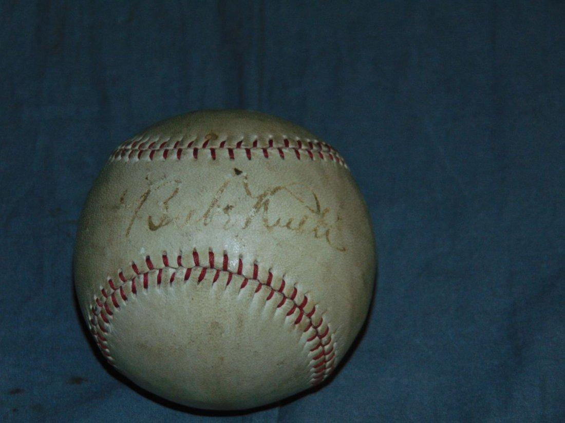 Single Signed Babe Ruth Baseball