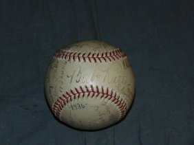 Dated 1936 Baseball Signed. With Ruth.