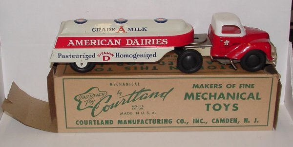 2001: COURTLAND IN ORIGINAL BOX. AMERICAN DAIRIES TRUCK