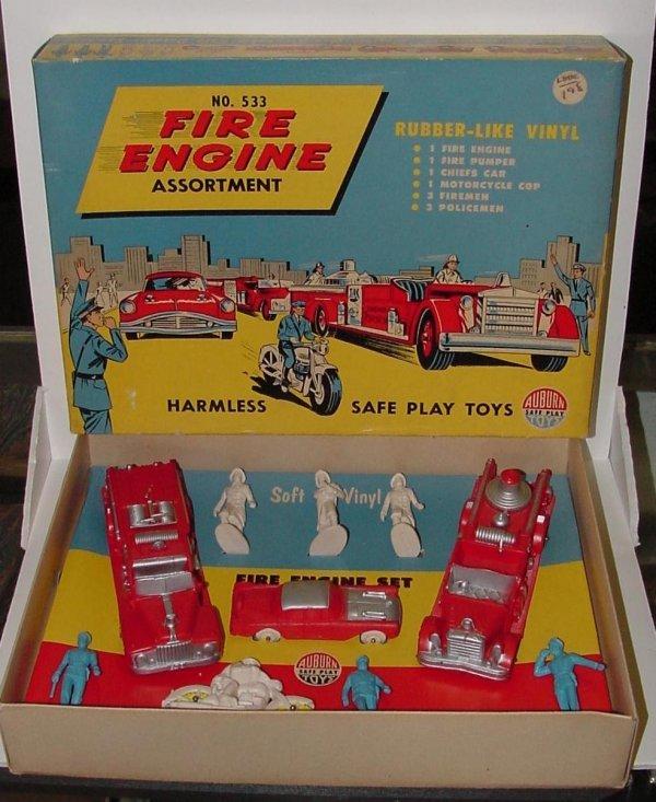 2011: AUBURN MINT FIRE ENGINE SET. SET #533. MINT IN BO