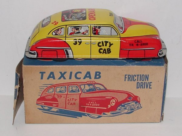 2015: LUPOR FRICTION DRIVE TAXICAB WITH BOX NO.72, FRIC