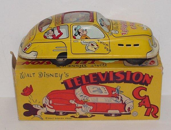 2017: 1950'S DISNEY'S TELEVISION CAR W/BOX MARX WALT DI