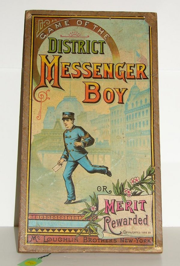2020: EARLY BOARD GAME. MC LOUGHLIN. DISTRICT MESSENGER