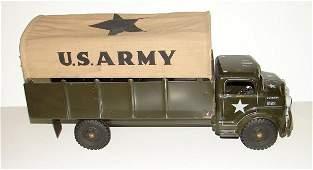 2218: MARX TIN LITHO U.S. ARMY TRUCK W/CLOTH COVER LOT