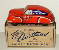 2280: BOXED TIN COURTLAND CITY MEAT MARKET CAR LOT CONS