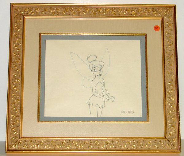 3005: ORIG TINKERBELL PRODUCTION DRAWING MARC DAVIS