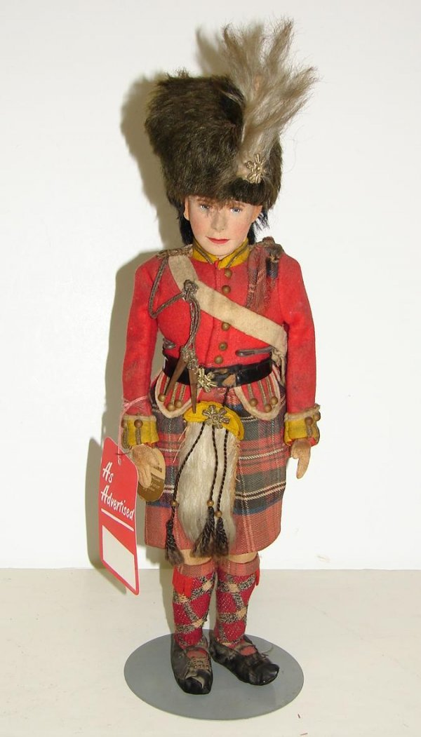 """3020: 15"""" FARNELL H.M. THE KING CLOTH DOLL"""
