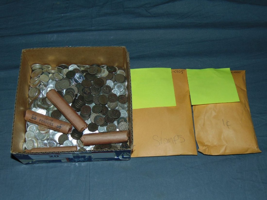 Silver Coin and Stamp Lot.