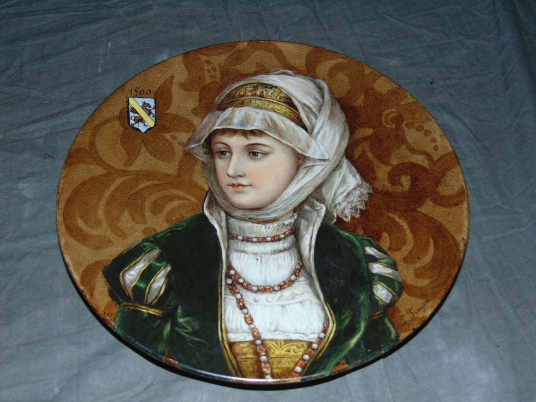 Hand Painted German Porcelain Plate