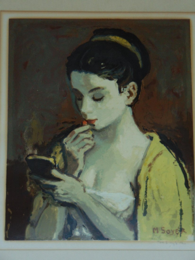 Moses Soyer, Pencil Signed Serigraph